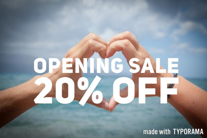 Opening 20% Off Promo